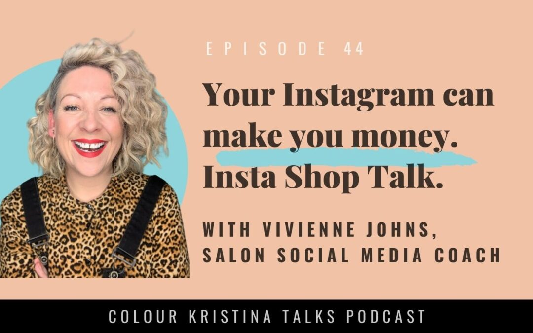 Your INSTAGRAM can make you MONEY! Shop talk with Vivienne Johns
