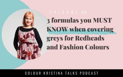 3 formulas you MUST KNOW when covering greys for Redheads and Fashion Colours